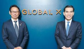 米国で大きく残高を伸ばすテーマ型ETFは、日本人の資産運用に今後どのようなメリットをもたらすのか、Global X Japan社の代表の金村昭彦氏(写真:左)に、投資信託評価機関モーニングスター代表の朝倉智也(写真:右)が聞いた。