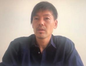 記者会見の5日前、インタビューに応じた松井